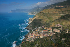 Widok nad Riomaggiore Zdjęcie Stock