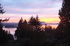 Nabrzeżny wschód słońca zdjęcie stock