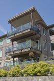 Nabrzeży mieszkaniowi kondominia Vancouver WA Obraz Royalty Free