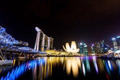 Nabrzeże deptak, Singapur Obrazy Stock