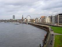 Nabrzeże Dusseldorf Obraz Royalty Free