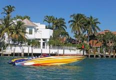 Nabrzeże luksusu domy Obraz Royalty Free