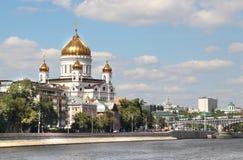 Nabrzeże Moskwa miasto Zdjęcia Royalty Free