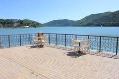 Nabrzeże na jeziorze Zdjęcia Stock