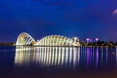Nabrzeże - ogródy Podpalanymi konserwatoriami Singapur Obrazy Stock