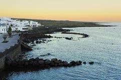 Ranek przy Punta Mujeres wioską, Lanzarote wyspa, Kanarowy Islan Obraz Stock