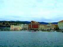 Nabrzeża miasto Trieste Zdjęcie Stock