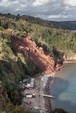 Nabrzeżna erozja Zdjęcie Royalty Free