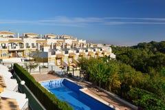 Nabrzeżna urbanizacja w Hiszpania, Costa Blanca Zdjęcie Stock