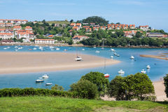 Nabrzeżna wioska w Cantabria Fotografia Royalty Free