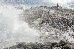Nabrzeżne fala przy Syracuse Obraz Royalty Free