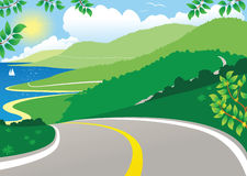 Nabrzeżnej autostrady widok Zdjęcia Royalty Free