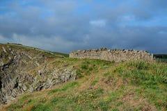 Nabrzeżny krajobraz blisko Eyemouth, Northumberland i Szkockich granic, obraz royalty free