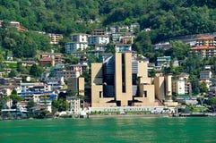 Nabrzeżny krajobraz, Szwajcaria, Lugano Zdjęcia Royalty Free