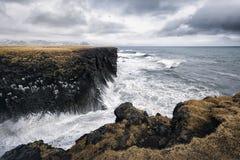 Nabrzeżny krajobraz w Iceland Zdjęcia Royalty Free