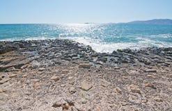Nabrzeżny krajobrazowy outside Palma Obraz Stock