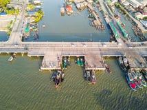 Nabrzeżny most w Chonburi Obraz Stock