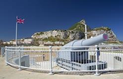 Nabrzeżny pistolet w Gibraltar punktu Europa Fotografia Royalty Free