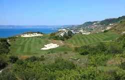 Nabrzeżny pole golfowe Obraz Royalty Free