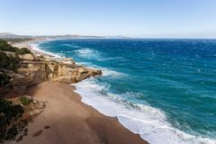 Nabrzeżny widok z lotu ptaka na Costa Brava Zdjęcie Royalty Free