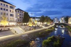Nabrzeże deptak w Siegen, Niemcy Zdjęcia Royalty Free