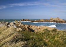 Nabrzeżna scena na Guernsey, Zdjęcia Royalty Free