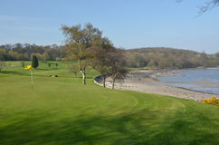 Nabrzeżny pole golfowe Obraz Stock