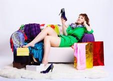 nabywa shopaholic kobiety Fotografia Royalty Free