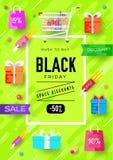 Nabywający w sklepowych ewidencyjnych kartach ustawiać Zakupy szablon flyear, magazyny, plakaty, książkowa pokrywa, sztandary ilustracji