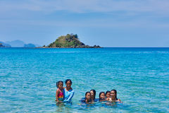 Free Nacapan Beach Filippino Natives People Palawan Philippines Stock Photography - 62388142