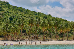 Nacapan beach Palawan Philippines Stock Photo
