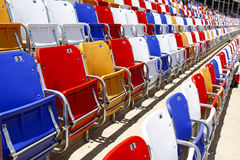 NACAR - colorful seats! Stock Photo
