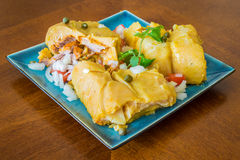 Nacatamal o tamal, un plato de América latina Foto de archivo