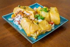 Nacatamal oder tamal, ein Teller von Latein-Amerika Stockfoto