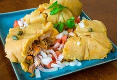 Nacatamal ou tamal, un plat d'Amérique latine Images libres de droits