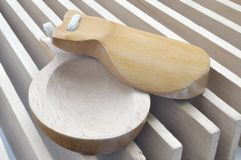 Naccheri e valvola di legno piega Fotografia Stock