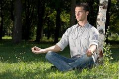 Nach-arbeiten Sie Meditation Stockbilder