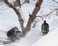 Nach dem Sturm des Schnees Stockbilder