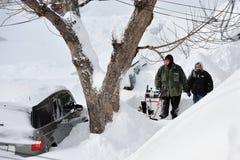 Nach dem Sturm des Schnees Lizenzfreie Stockbilder