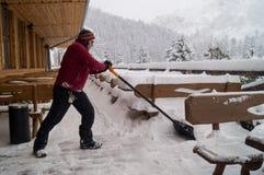 Nach den Schneefällen Narodny Park Tatransky Vysoke tatry slowakei stockfoto