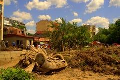 Nach der Überschwemmung von Bulgarien, Varna Lizenzfreie Stockfotos