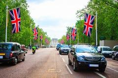 Nach der Hochzeit von Prinzen William, Herzog von Cambridge und Catherine Middleton am 29. April 2011 an Westminster Abbey in Lon Lizenzfreie Stockfotos