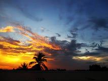Nach der Sonne nehmen Sie Abschied Lizenzfreie Stockfotografie