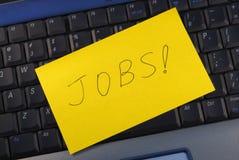 Nach einem Job online suchen stockfoto