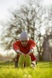 Nach einem Lack-Läufer heraus ausdehnen Lizenzfreie Stockbilder