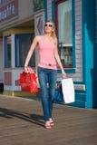 Nach Einkaufen Stroll Stockfotos