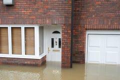 Nach Hause überschwemmt Lizenzfreie Stockfotografie