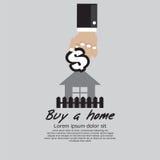 Nach Hause kaufen. Lizenzfreies Stockbild