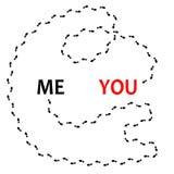 Nach Liebe, Weisenbahn zu Ihnen suchen Konzept, verwirrende Weisenstraße, Illustration lokalisiert auf Weiß vektor abbildung