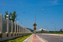 Nach rechts abbiegender Verkehr. Stockfotos